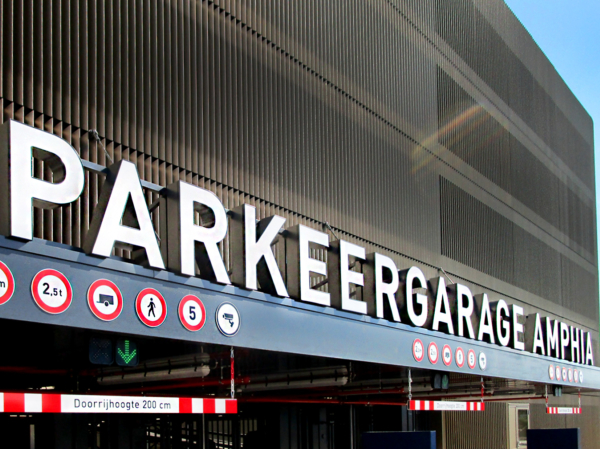 Projecten: Parkeergarage Amphia | Groeneveld Sign Systems