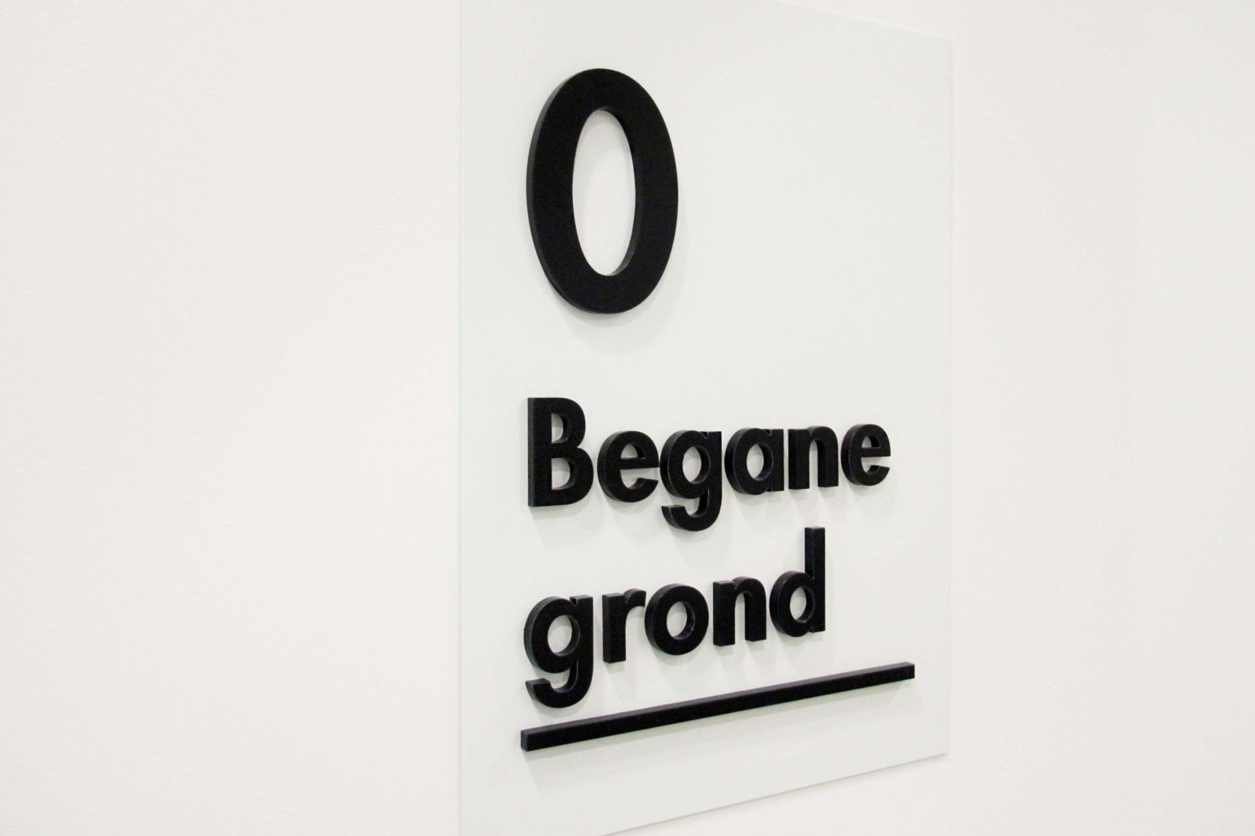 Melkfabriek - etageaanduiding 1   Groeneveld Sign Systems