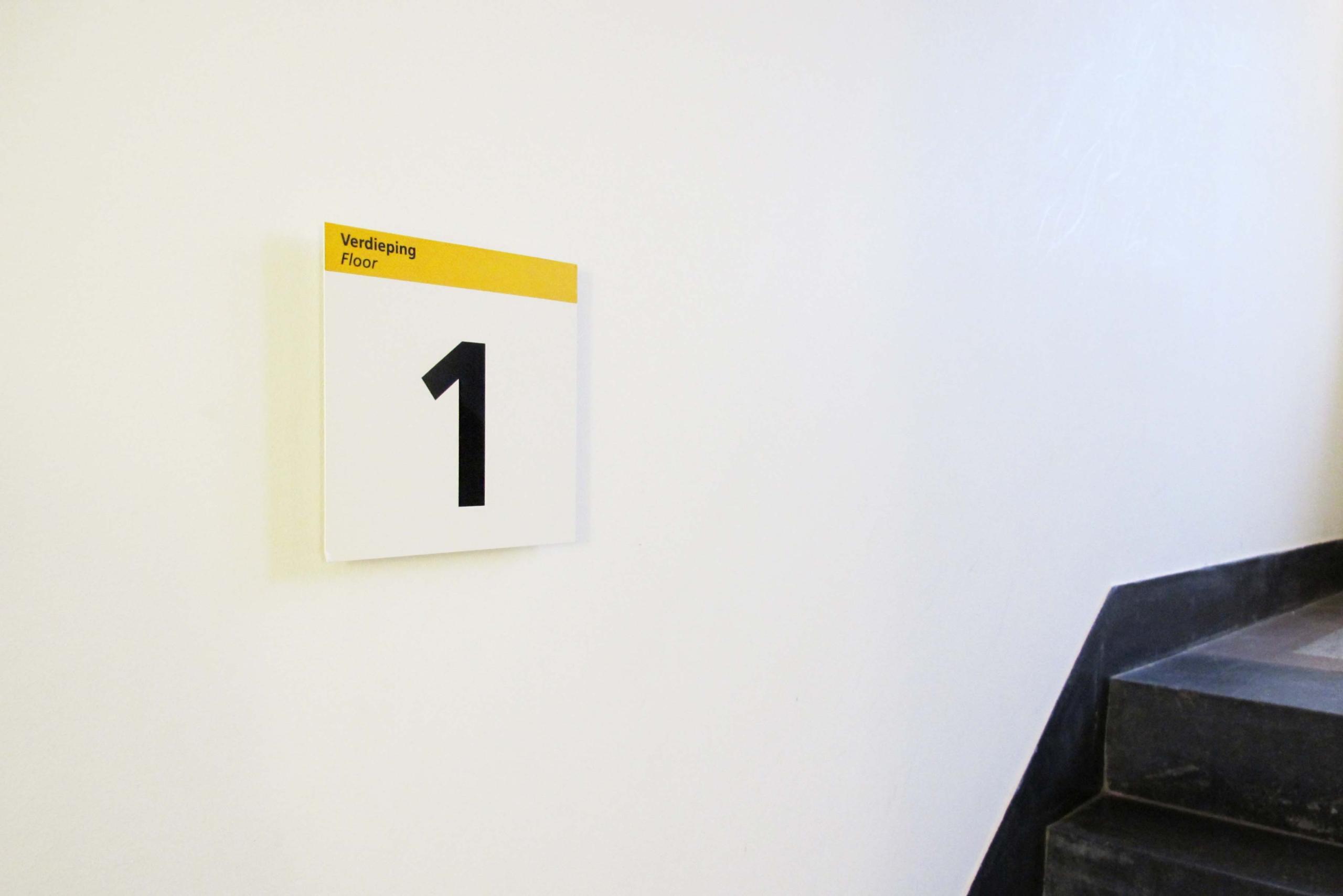 UU - etageaanduiding 1   Groeneveld Sign Systems