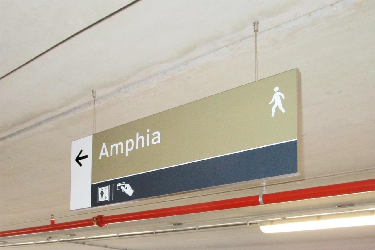 Amphia Ziekenhuis bewegwijzering looproute   Groeneveld Sign Systems