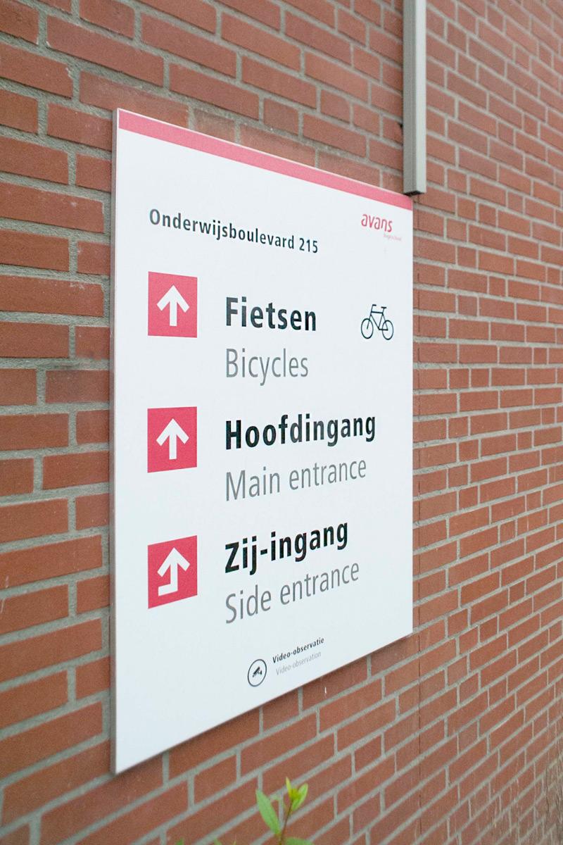 Avans Hogeschool buiten 5 | Groeneveld Sign Systems
