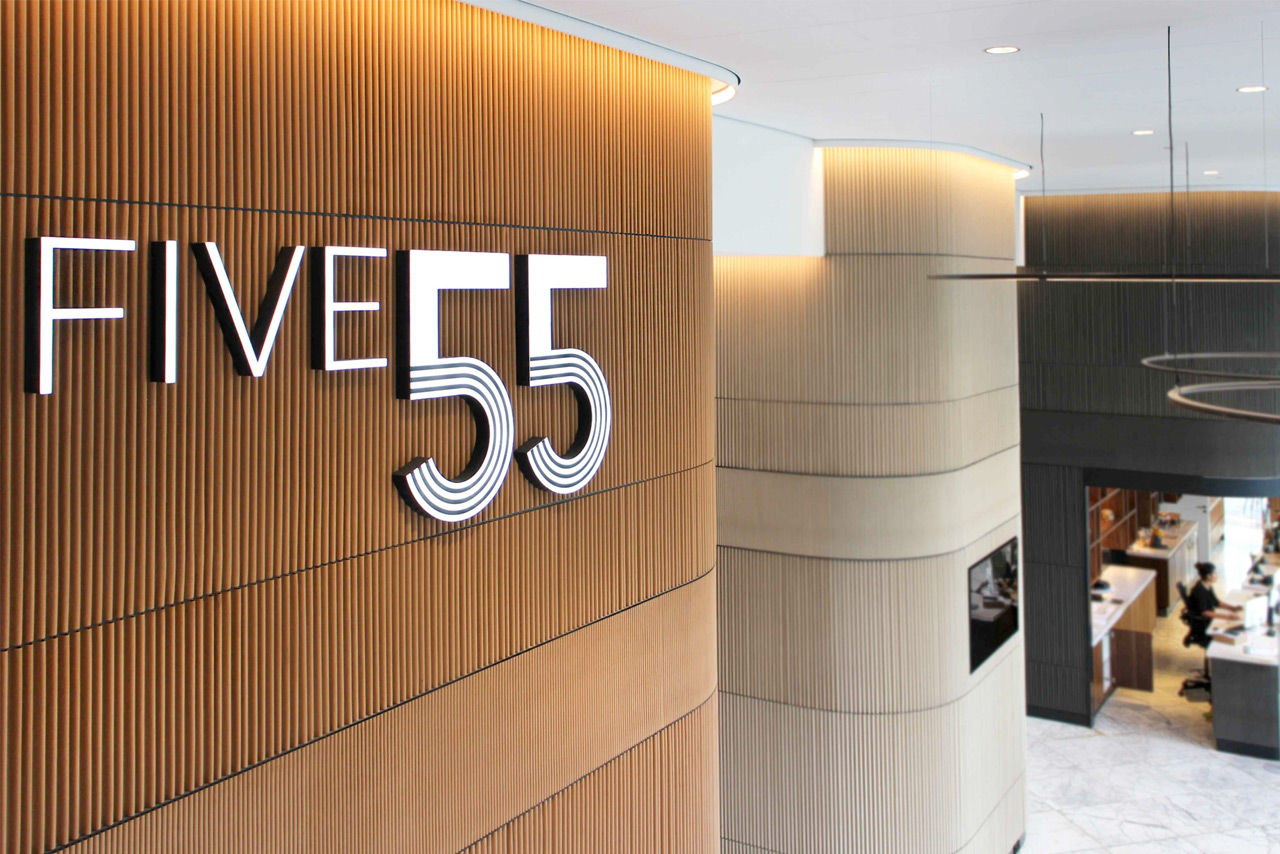 Five 55 Rotterdam | Groeneveld Sign Systems