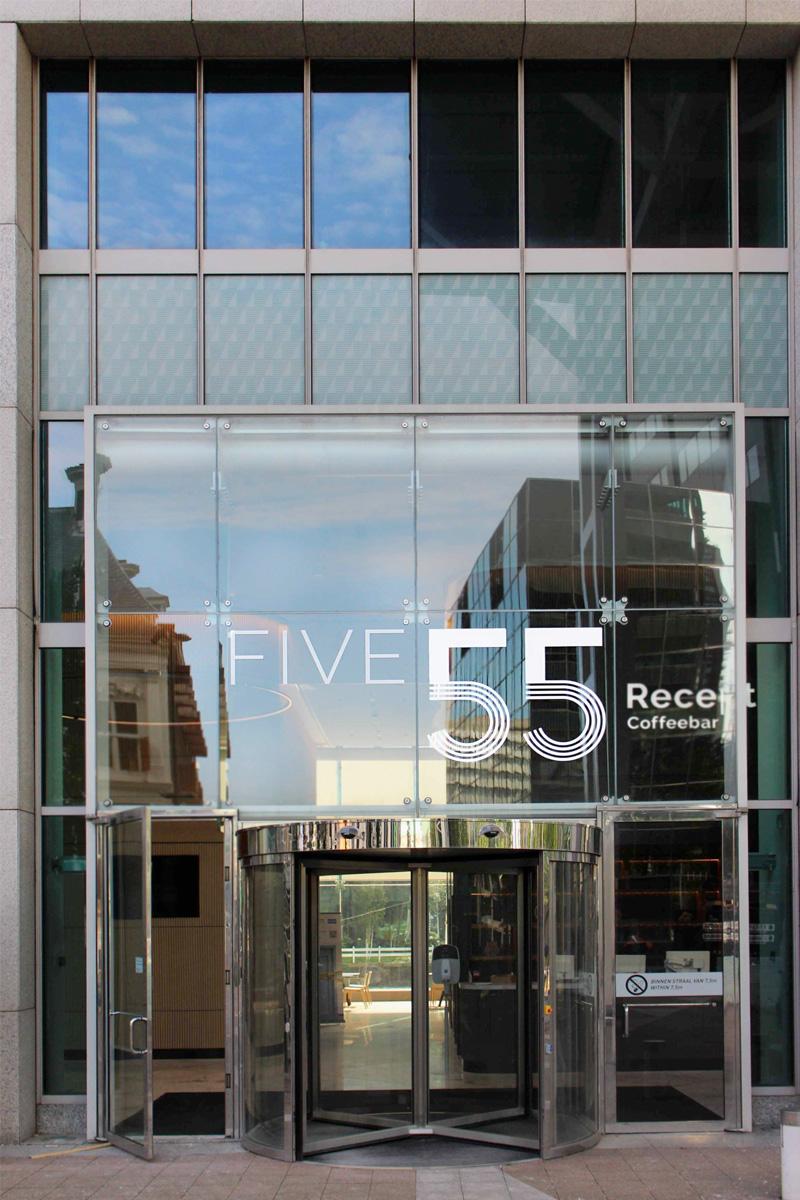 Five 55 gevelfolie | Groeneveld Sign Systems