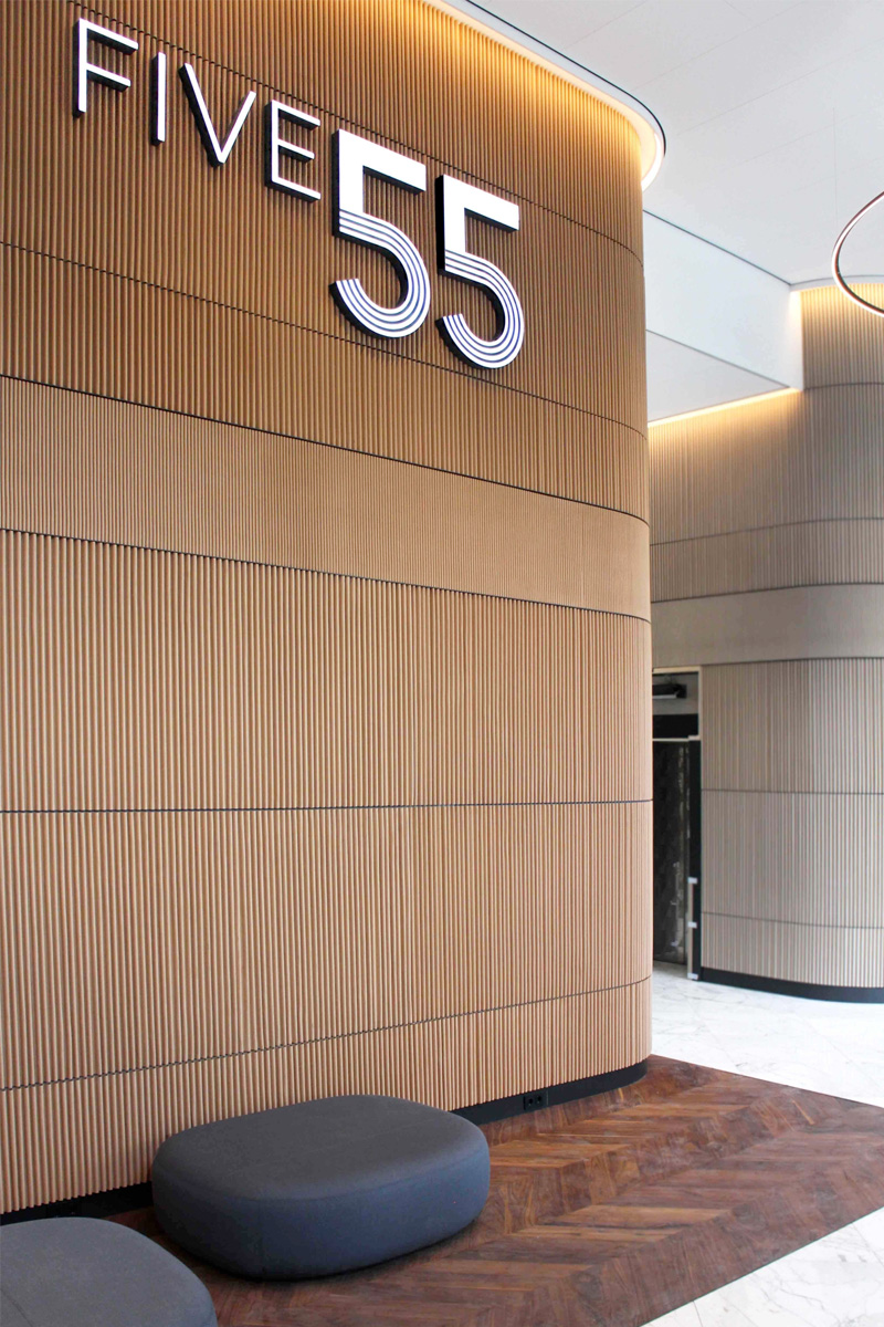 Five 55 licht logo | Groeneveld Sign Systems