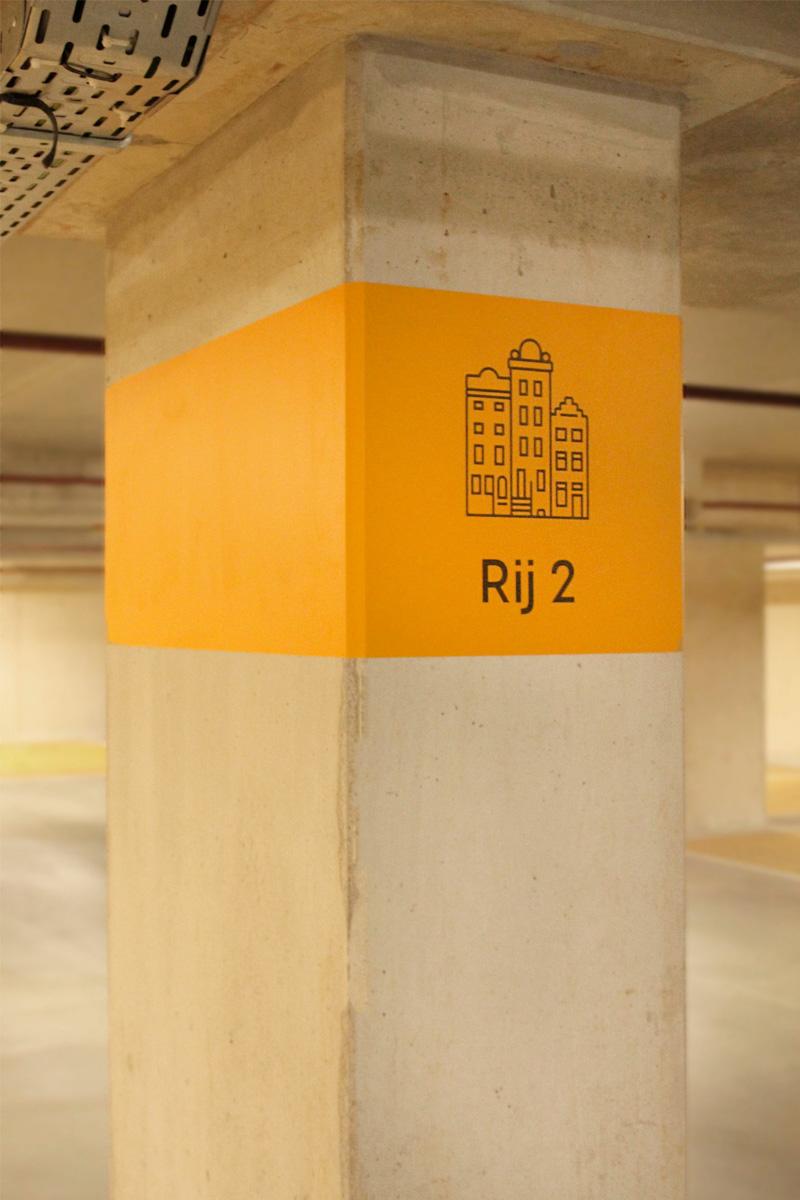 Parkeergarage Nieuw West etage aanduiding | Groeneveld Sign Systems
