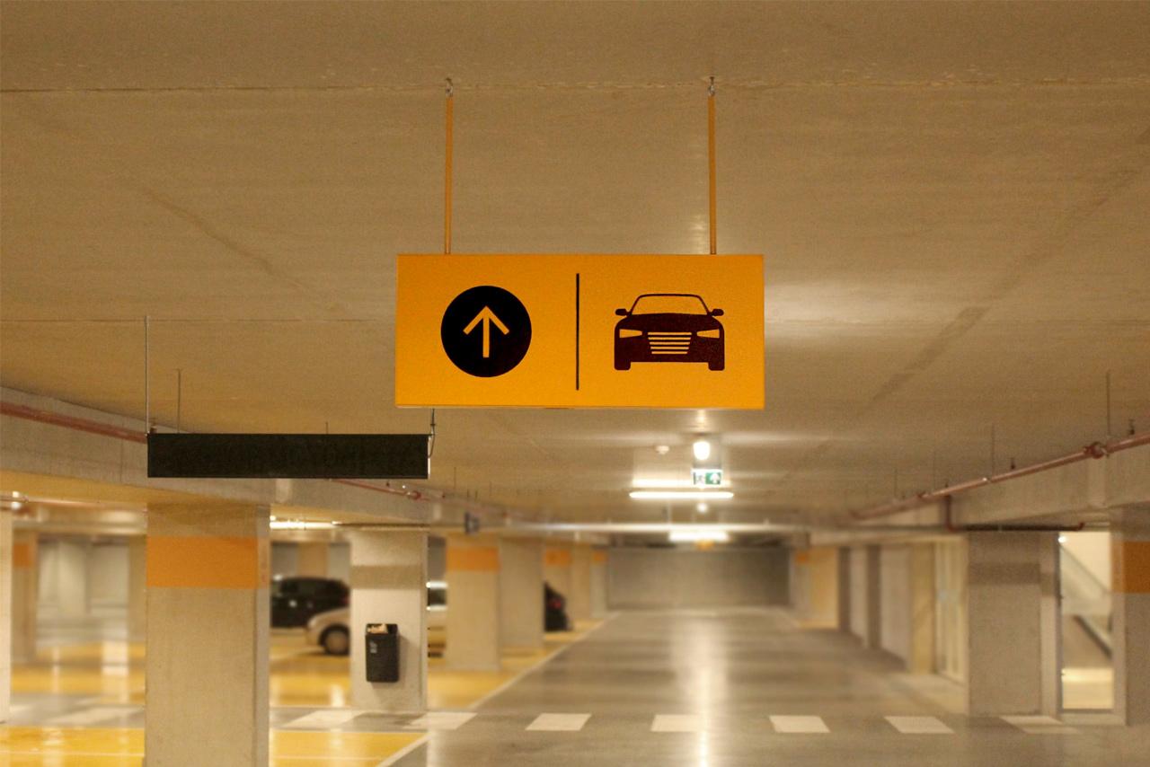 Parkeergarage Nieuw West rijrichting | Groeneveld Sign Systems