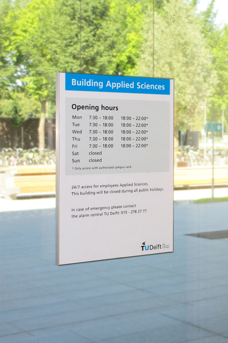 TU Delft TNW infobord   Groeneveld Sign Systems
