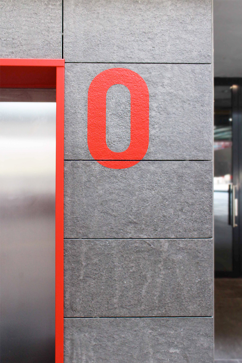 The Wall etage aanduiding   Groeneveld Sign Systems