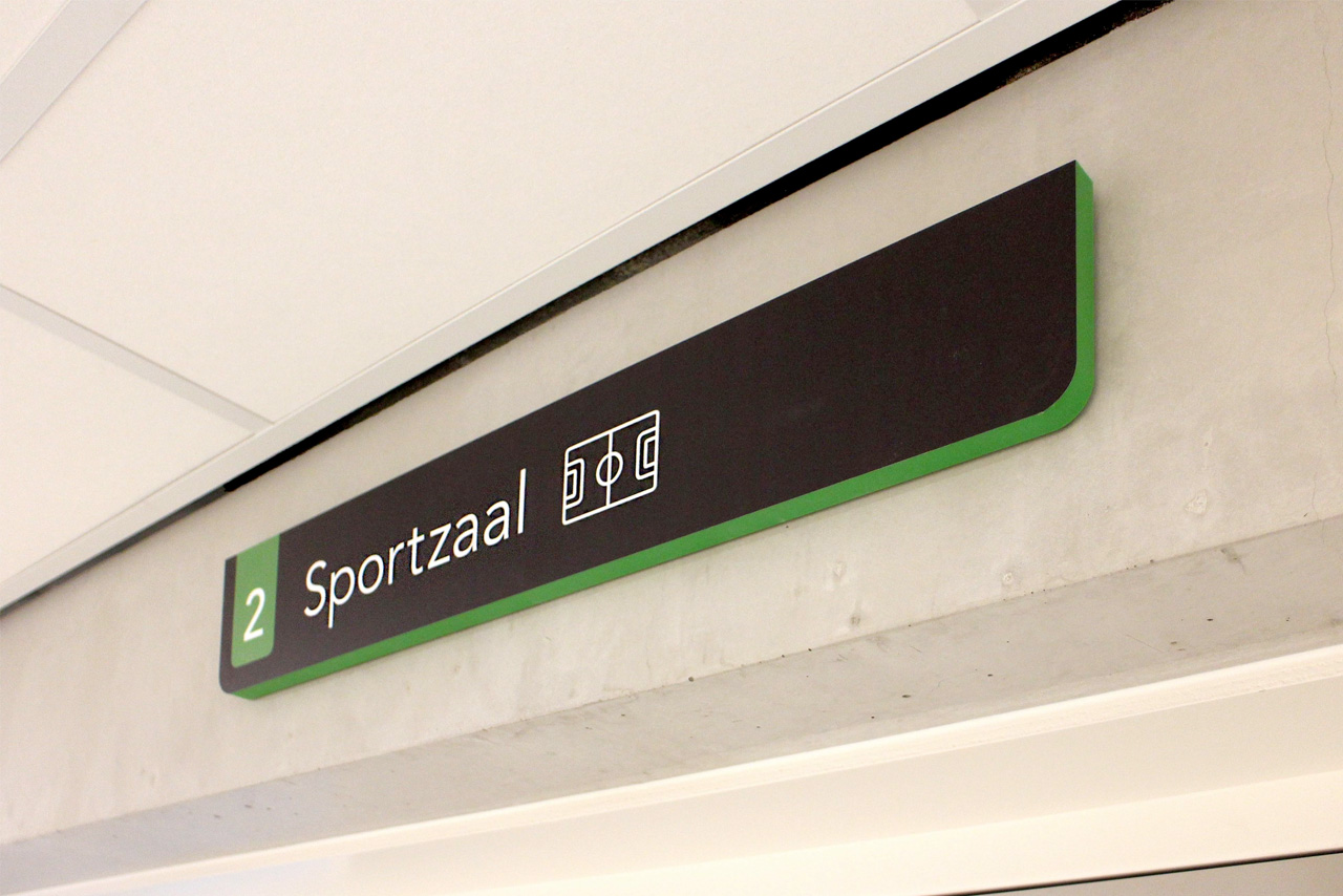 Udens College sportzaal | Groeneveld Sign Systems